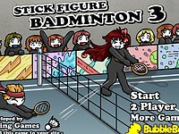 Play Stick Figure Badminton 3 Hacked Unblocked by